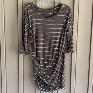 Jessica Simpson Olive Green Striped Shirt size Medium